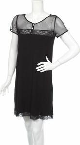 Czarna sukienka Teccia z okrągłym dekoltem prosta
