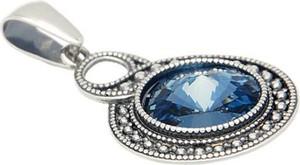 Polcarat Design Srebrny wisiorek z kryształem Swarovskiego W 1897