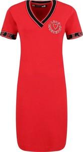 Sukienka Love Moschino dopasowana z krótkim rękawem