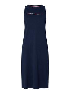 Granatowa sukienka Tommy Jeans bez rękawów midi
