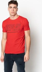 T-shirt Replay z bawełny z krótkim rękawem z okrągłym dekoltem