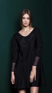 cb0164dafb jedwabna sukienka solar - stylowo i modnie z Allani
