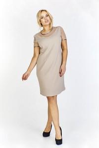 Sukienka Hana z krótkim rękawem z tkaniny