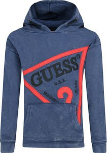 Niebieska bluza dziecięca Guess