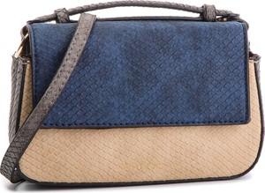 Niebieska torebka Menbur mała na ramię w stylu casual