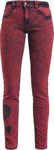 Czerwone jeansy Emp w street stylu z bawełny
