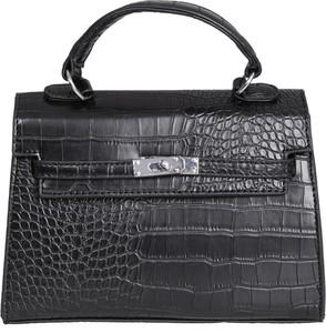 Czarna torebka Torebki Inspirowane średnia do ręki