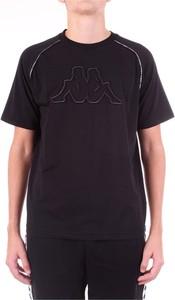 Czarny t-shirt Kappa z bawełny