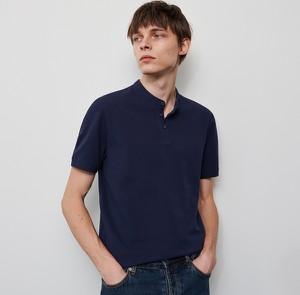 Granatowa koszulka polo Reserved z krótkim rękawem