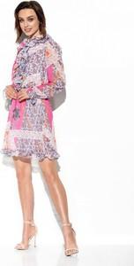 Sukienka Lemoniade z długim rękawem mini z szyfonu