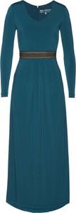 Zielona sukienka bonprix bpc selection premium z długim rękawem maxi