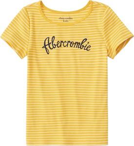 Bluzka dziecięca Abercrombie & Fitch w paseczki z dżerseju