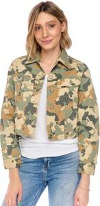 Zielona kurtka Lee z jeansu w stylu casual bez kaptura