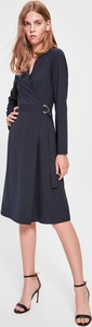 Granatowa sukienka Trendyol