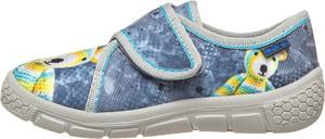 Niebieskie kapcie Richter Shoes na rzepy