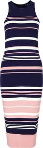 Sukienka Superdry w stylu casual midi z okrągłym dekoltem