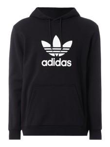 Czarna bluza Adidas Originals z nadrukiem z bawełny
