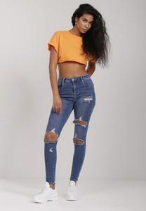 Niebieskie jeansy Renee w street stylu