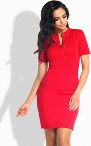 Czerwona sukienka Lemoniade z krótkim rękawem mini