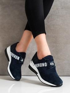 Czarne buty sportowe Czasnabuty ze skóry w sportowym stylu z płaską podeszwą