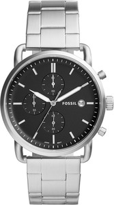 Zegarek FOSSIL - The Commuter Chrono FS5399 Silver/Silver