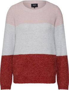 Sweter Object w stylu casual z dzianiny