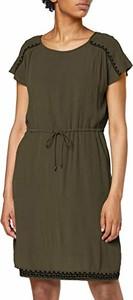Sukienka amazon.de z okrągłym dekoltem z krótkim rękawem mini
