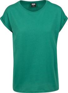 Zielony t-shirt Emp w stylu casual z okrągłym dekoltem z krótkim rękawem