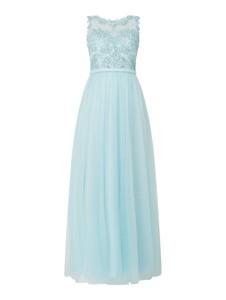 Niebieska sukienka Mascara maxi