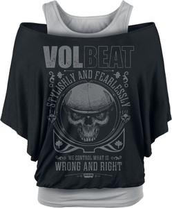 Czarny t-shirt Volbeat w rockowym stylu z nadrukiem