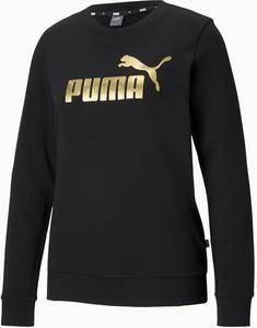 Czarna bluza Puma w sportowym stylu krótka
