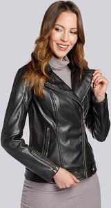 Czarna kurtka Wittchen w rockowym stylu