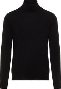 Czarny sweter J. Lindeberg z wełny w stylu casual