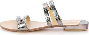 Prima moda szare klapki z paseczkami faghita
