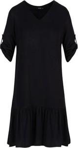Czarna sukienka ECHO z dekoltem w kształcie litery v mini