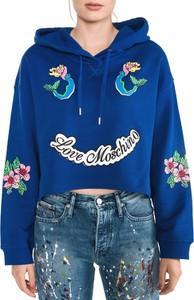 Bluza Love Moschino z bawełny krótka