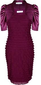 Fioletowa sukienka Fokus mini dopasowana