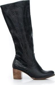 Kozaki Zapato w stylu boho na obcasie przed kolano