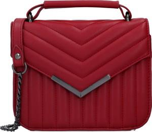 Czerwona torebka Pepe Jeans średnia na ramię