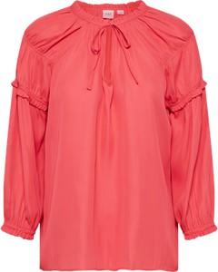 Czerwona bluzka Gap w stylu casual ze sznurowanym dekoltem