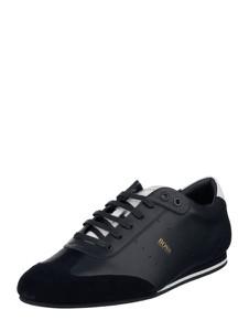 Granatowe buty sportowe Boss w sportowym stylu sznurowane