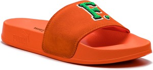 Pomarańczowe klapki Puma na platformie w stylu casual