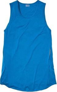 Niebieska sukienka Marmot mini bez rękawów z okrągłym dekoltem