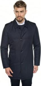 Granatowy płaszcz męski Recman