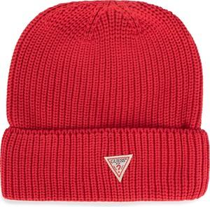 Czerwona czapka Guess