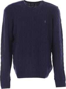 Granatowy sweter Ralph Lauren z wełny