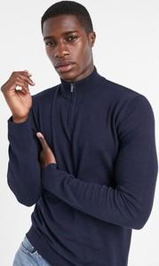 Granatowy sweter topman