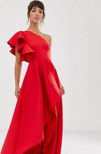 Czerwona sukienka True Violet maxi