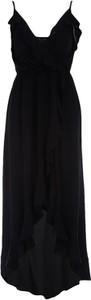 Czarna sukienka Multu maxi