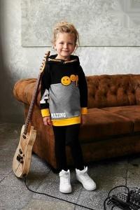 Czarna tunika dziewczęca Małami